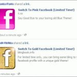 Picture about Switch Facebook Profile Color to Gold, Black, Pink, or Red