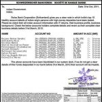 Picture about Swiss Bank Statement to Government of India