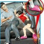 Picture about Children Prone to Escalator Accidents because of their Shoes