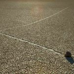 Picture: Sailing and Moving Rocks and Stones of Death Valley