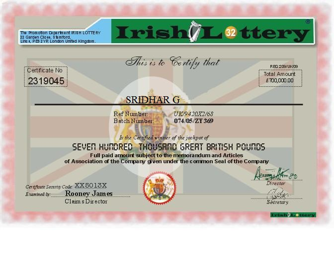 Picture about Irish International online Promo E-mails