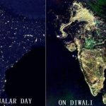 Picture about Satellite Image of India during Diwali