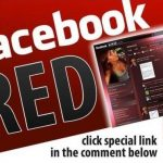 Picture about Facebook Red Color Profile Scam