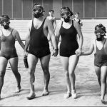 Picture about People in Izu Islands Wear Gas Masks for a Life Threatening Study