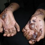 Picture about Party Mehndi Red Cone Contains Dangerous Chemicals