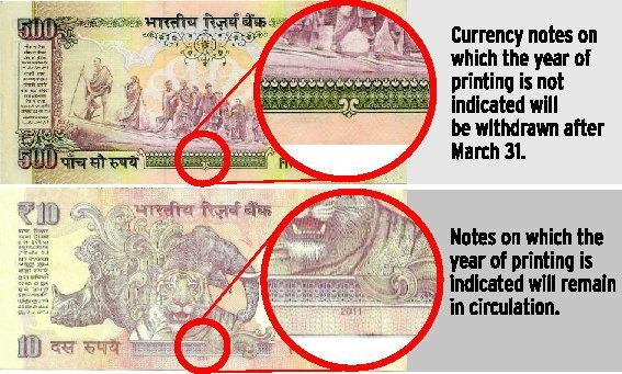 Picture: Reserve Bank of India to Withdraw All Pre-2005 Currency Notes
