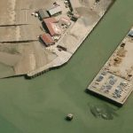 Picture about Satellite Image Spotted Giant Crabzilla Off British Harbour