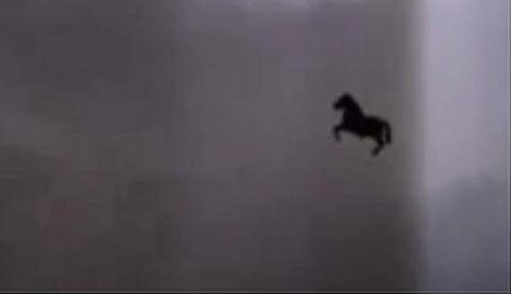 Picture about Flying Horse Seen in Mecca During Thunderstorm