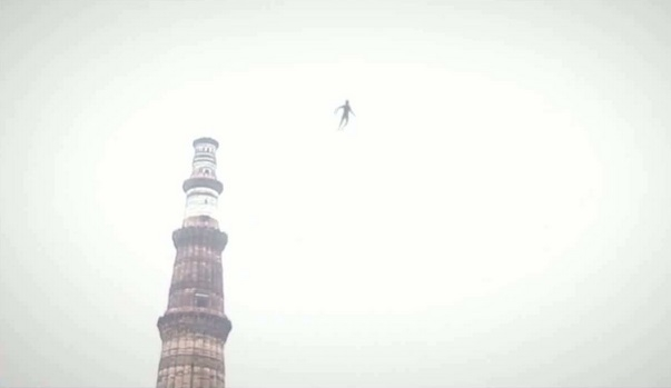 Picture about Flying Humanoid Spotted Over Qutub Minar in Delhi