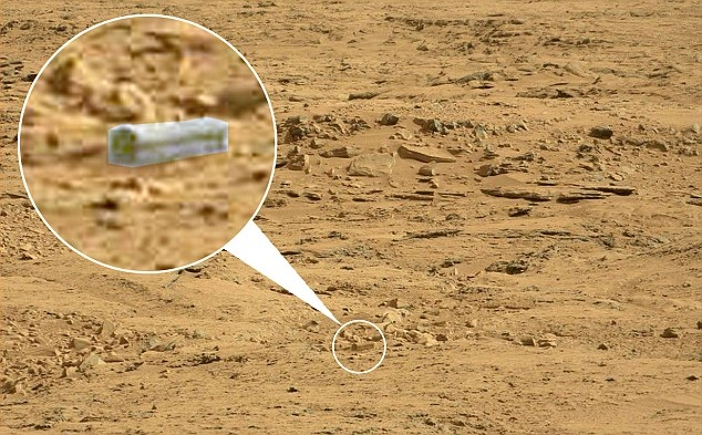 Picture about NASA's Curiosity Rover Spots Alien Coffin on Mars