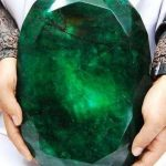 Picture about Teodora, the World's Largest Cut Emerald