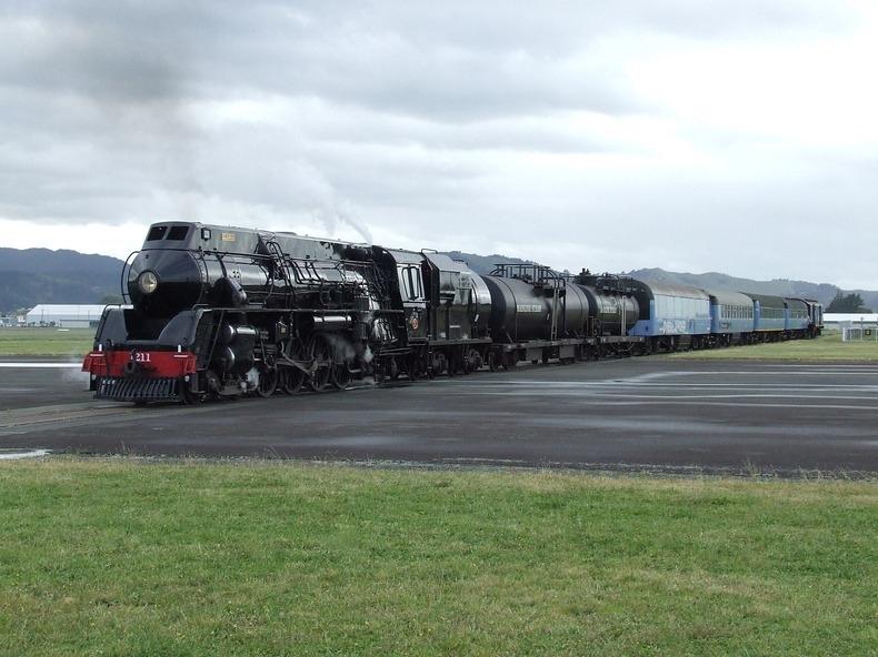 Picture of Napier - Gisborne Railway Line Passes Through Airport Runway