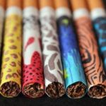 Picture of Colorful Cigarette with Colorful Smoke