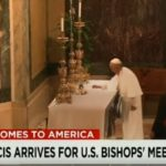Picture Showing The Pope's Tablecloth Magic Trick was a Miracle