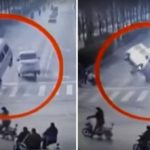 Picture Showing Mystery in China, Accident with Cars Levitating