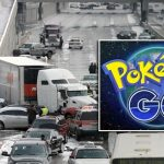 Picture about Major Highway Accident after Man Stops in Middle of Highway to Catch Pikachu
