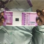Picture Suggesting New Rs 2000 Indian Currency Note Embedded with Nano GPS Chip (NGC) to Track Location